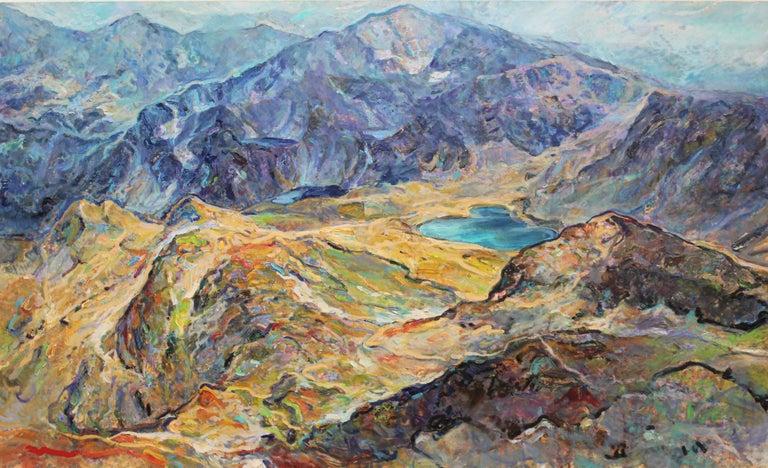Elena Georgieva Landscape Painting - Seven Rila Lakes