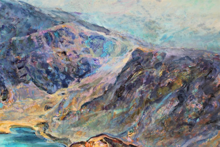 Seven Rila Lakes - Painting by Elena Georgieva
