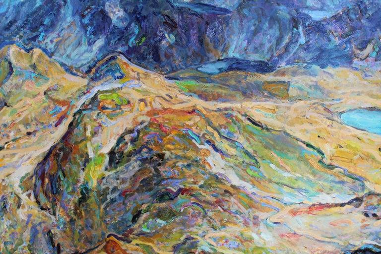 Seven Rila Lakes - Impressionist Painting by Elena Georgieva