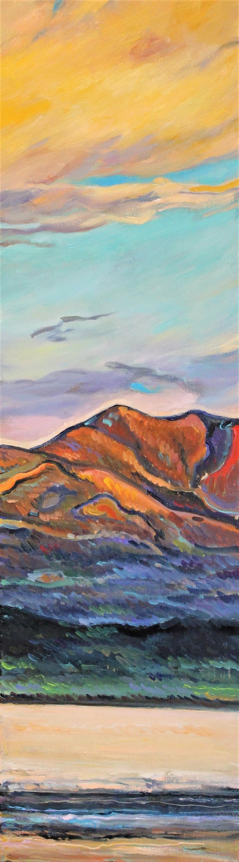 Elena Georgieva Landscape Painting - Red Mountain