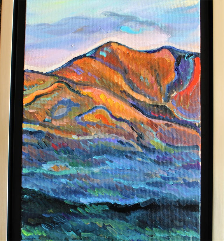 Red Mountain - Painting by Elena Georgieva