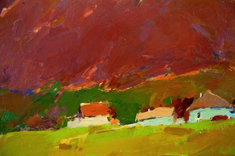 Crimea Mountain - Brown Landscape Painting by Aleksandr Kryushyn