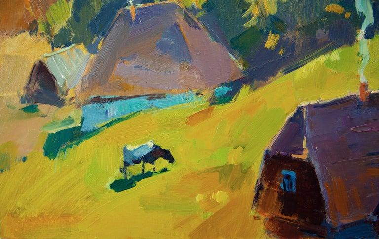 September's Sun - Impressionist Painting by Aleksandr Kryushyn