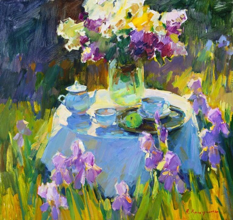 Aleksandr Kryushyn Landscape Painting - Sunny Garden