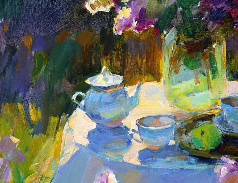 Sunny Garden - Impressionist Painting by Aleksandr Kryushyn