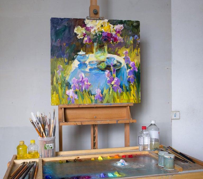 Sunny Garden - Painting by Aleksandr Kryushyn