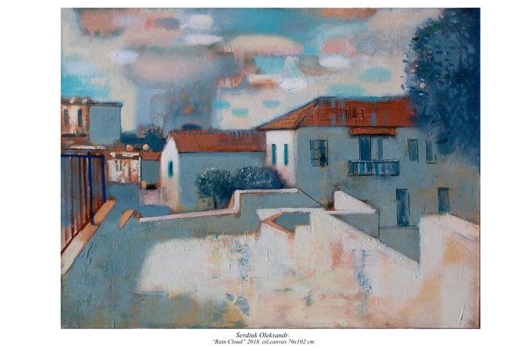 Oleksandr Serdiuk Landscape Painting - Rainy Cloud
