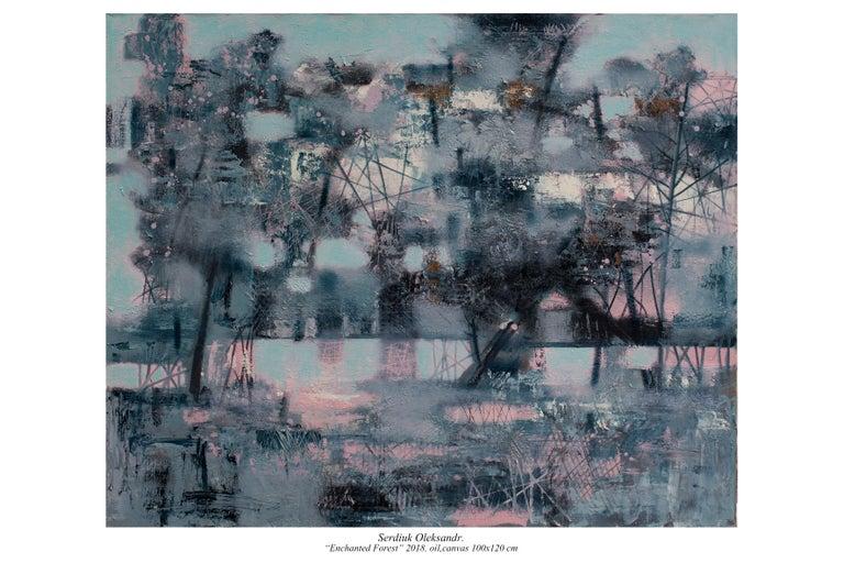 Oleksandr Serdiuk Landscape Painting - Charmed Forest