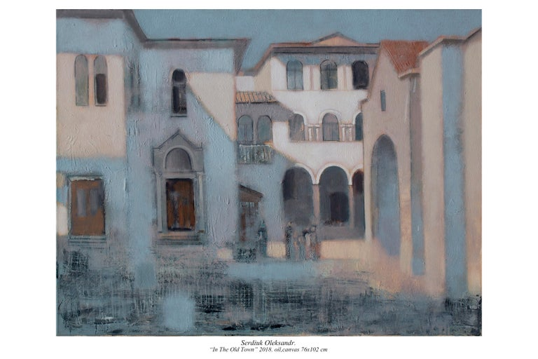 Oleksandr Serdiuk Landscape Painting - In the Old City
