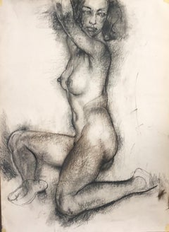 Model -  Charcoal on Paper Grey Color