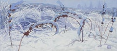 Winter Kingdom - Oil Painting Canvas Blue Grey White Brown Black