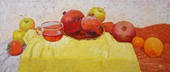 Еxquisite Taste - Oil Painting Canvas Red Green Yellow White