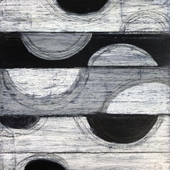 """""""Elements 3036"""" Abstract Mixed Media Layered Composition on Baltic Birch Panel"""