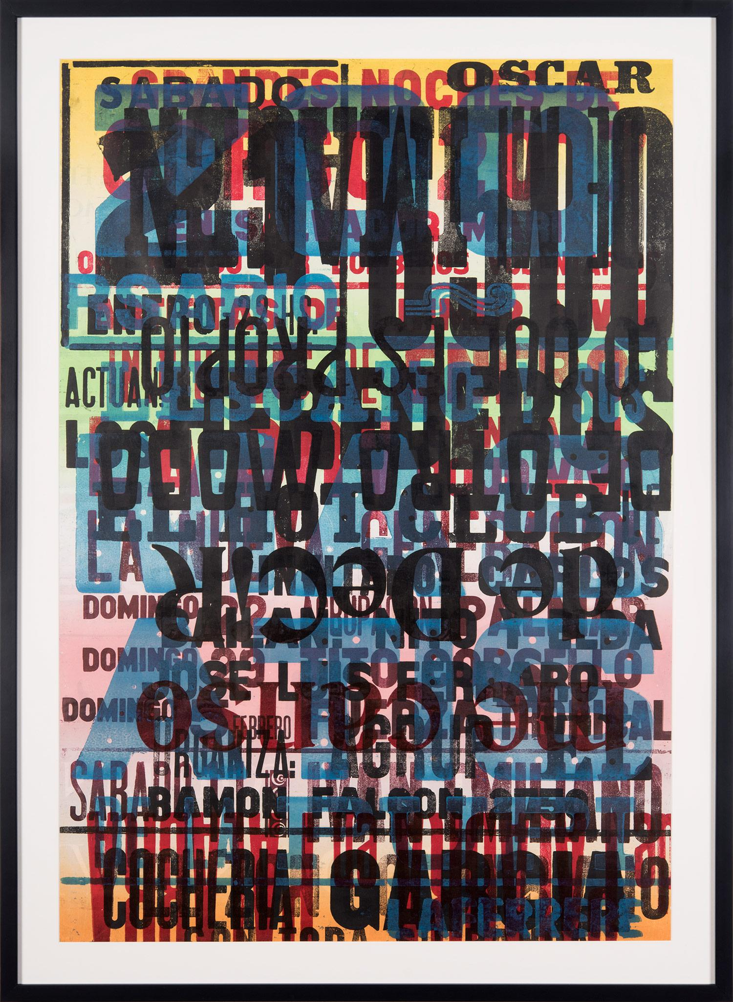 """""""Put Into Words #1"""" Traditional Wooden Typography on Reclaimed Poster Paper"""