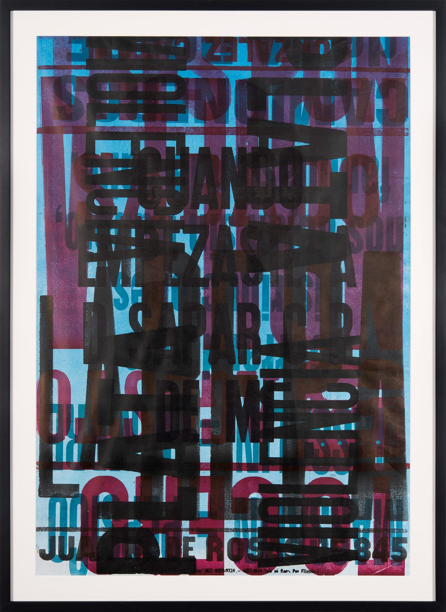 """""""Put Into Words #2"""" Traditional Wooden Typography on Reclaimed Poster Paper"""