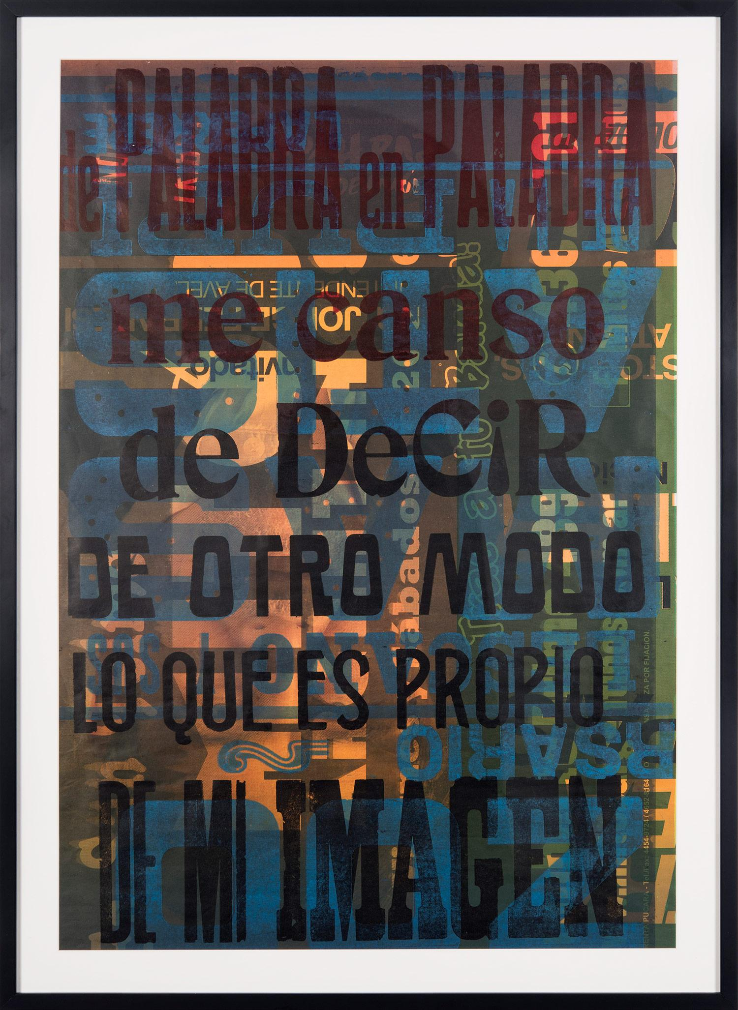 """""""De Palabra en Palabra"""" Traditional Wooden Typography on Reclaimed Poster Paper"""