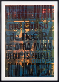 """De Palabra en Palabra"" Traditional Wooden Typography on Reclaimed Poster Paper"