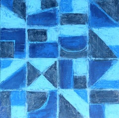 """""""Dive In 1"""" Abstract Mixed Media Layered Composition on Baltic Birch Panel"""