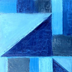 """""""Dive In 3"""" Abstract Mixed Media Layered Composition on Baltic Birch Panel"""