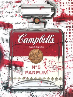 """""""Campbell's CHANEL N°5 Parfum Red Bottle"""" Work on Paper by French Street Artist"""