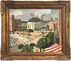 """Copenhagen"" Post-Impressionist Coastal Denmark Landscape Oil on Canvas Painting"