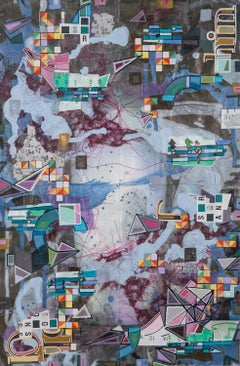PRLS-1000 - Eric Mack - Contemporary Abstract Collage Painting