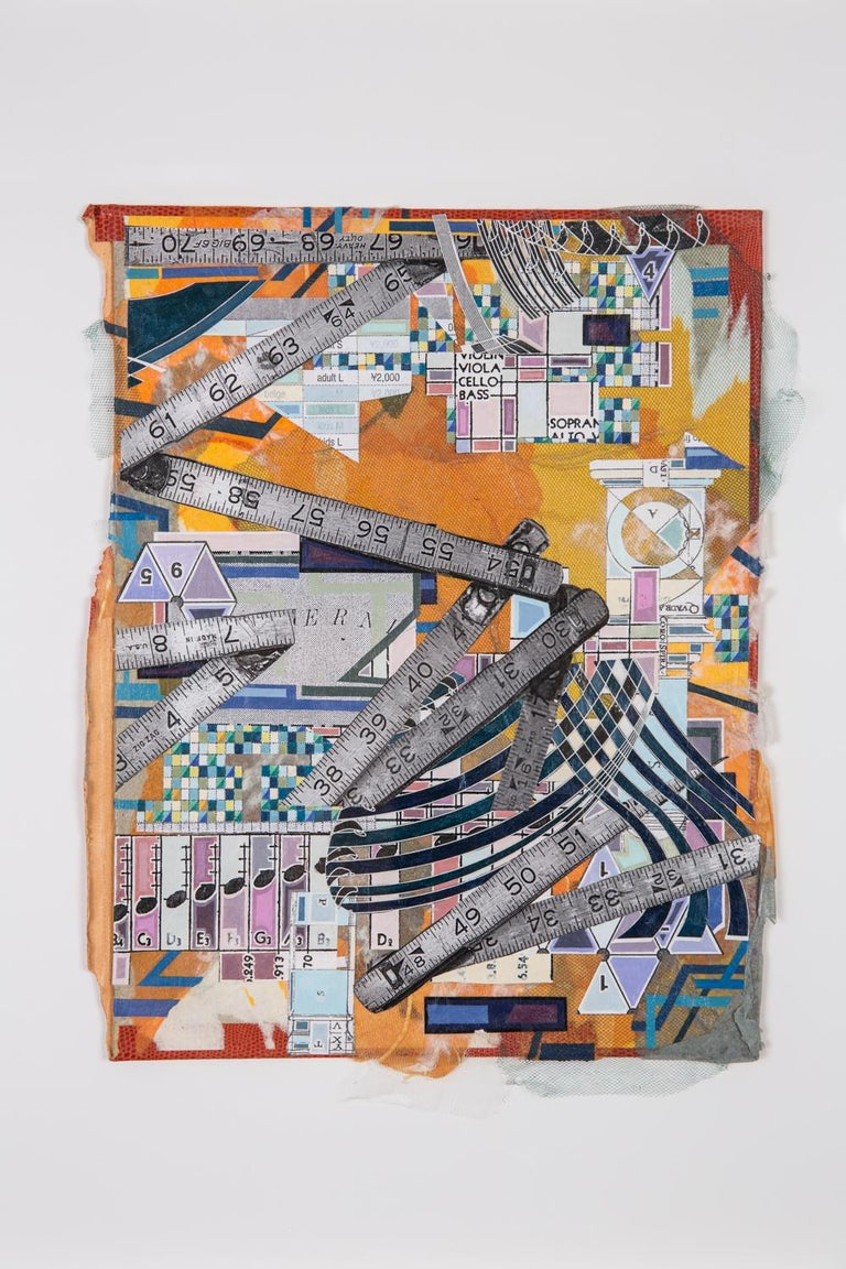 OYV-19 - Eric Mack - Contemporary Abstract Collage Painting  - Gray Abstract Painting by Eric Mack