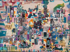 Eric Mack - Contemporary Abstract Collage Painting from Early in his Career