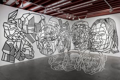 Cobwebs & Catacombs - Dustin Hedrick - Tape Installation w/ Overlapping Faces