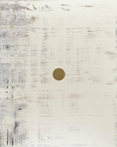GCW4 - Contemporary - Oil and Gold Leaf on Canvas - Minimal Abstract Painting