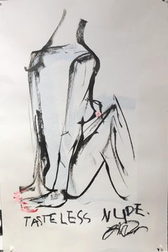 Tasteless Nude - Frances Berry - Contemporary - Drawing - Figure