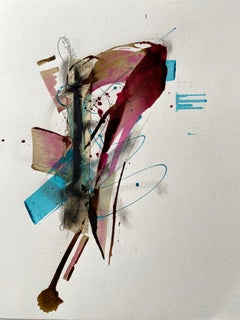 Ridge McLeod Painting - Framed - Ink, gouache, acrylic, and tape on paper
