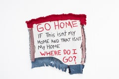 Where do I go? - Contemporary Political Found Object Hanging Sculpture