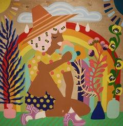 Mother Nature II - Stacy Kiehl - 48 x 48 - Acrylic Paint on Wood Panel, 2020
