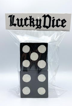 Pair of Lucky Dice (Black) - Stacy Kiehl - Bodega Series - Acrylic, Wood