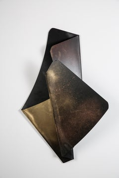 Vuelve A Anocher - Acrylic Polymer Wall Hanging Sculpture, Black and Gold