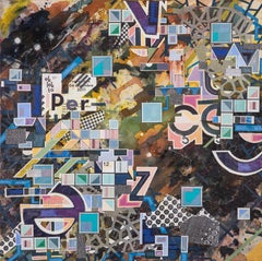 PVB-7600 - Eric Mack - Contemporary Abstract Collage Painting