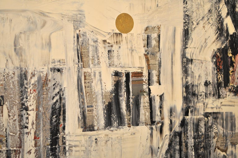 GC 26 - Yuri Figueroa - Oil and Gold Leaf on Canvas - Abstract Painting  For Sale 2