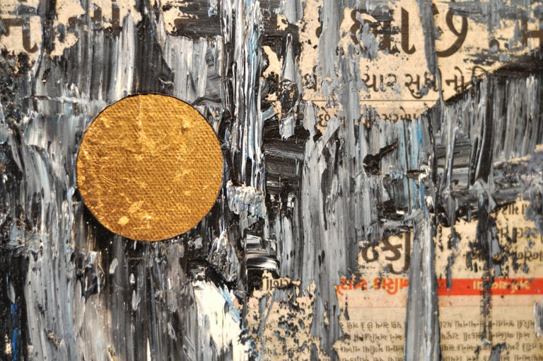 GC Ss 6 Babel - Yuri Figueroa - Oil and Gold Leaf on Canvas - Abstract Painting For Sale 3