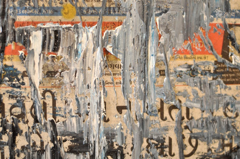 GC Ss 6 Babel - Yuri Figueroa - Oil and Gold Leaf on Canvas - Abstract Painting For Sale 4