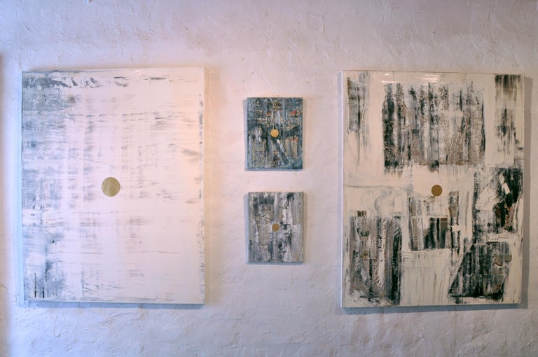GC Ss 6 Babel - Yuri Figueroa - Oil and Gold Leaf on Canvas - Abstract Painting For Sale 1