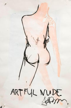 Artful Nude - Frances Berry - Contemporary - Drawing - Oil Pastel