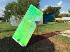 "Light Refracting Outdoor Dichroic Acrylic Sculpture - ""Bending Normal"""