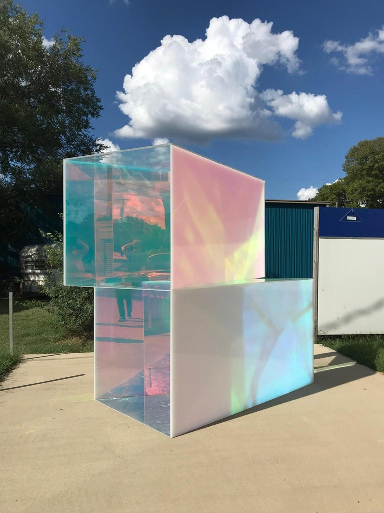 """This piece is available for commission of a similar site specific sculpture at Buyer's choosing. Gallery and Artist will work with Buyer to create a similar piece to the one listed here.   In """"Special Housing Unit"""", Manganni has used cast acrylic"""