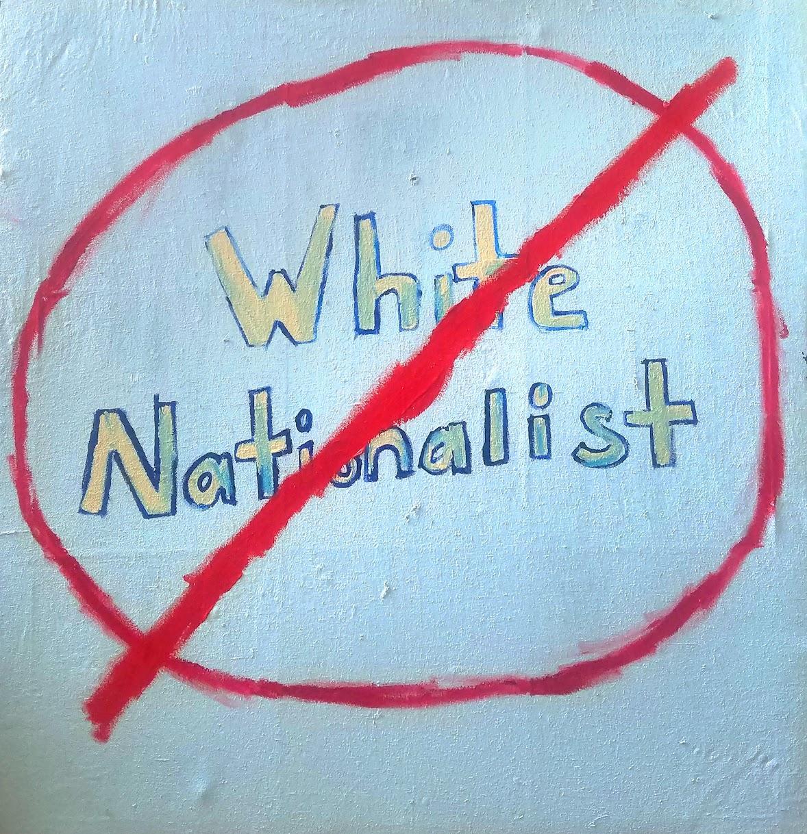White Nationalist - Marlos E'van - Acrylic Paint, Oil Paint on Canvas, 2020