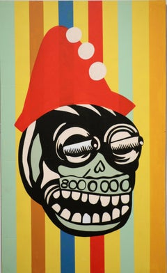 Oggle To The Right - Stacy Kiehl - 40 x 24 - Acrylic Paint on Wood Panel, 2020