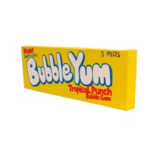 Bubble Yum - Tropical Punch - Stacy Kiehl - Bodega Series - Acrylic, Wood. 2020