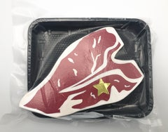 Packaged Meat No. 8 - Bodega Series, Steak painted on Wood, Acrylic, Plastic