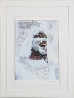 Smiling Man, Mardi Gras - Portrait Photograph, New Orleans, Signed Limited Ed.