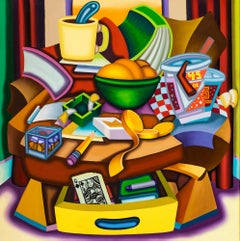 Everything In Its Right Place - Cubist, Bright & Bold Surreal Still Life